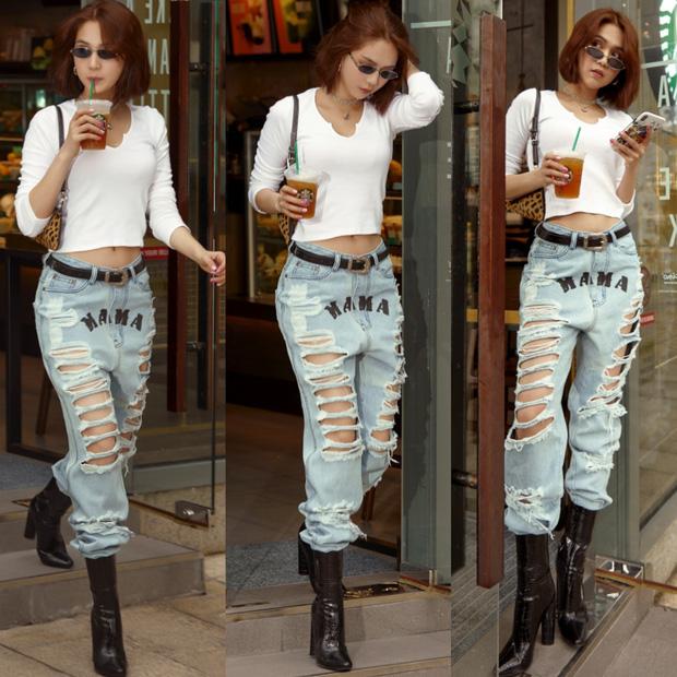 Ngọc Trinh dáng chuẩn nên mặc quần jeans đẹp mê là đương nhiên, mỗi tội lại có đôi lần mix đồ hơi 'lỗi' - 9
