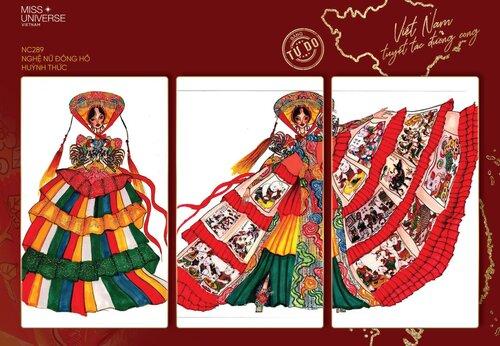 Cuộc thi thiết kế trang phục dân tộc cho Khánh Vân tại MU 2020: Tác phẩm 'Kén em' được vote như vũ bão với hơn 10 ngàn like - 4