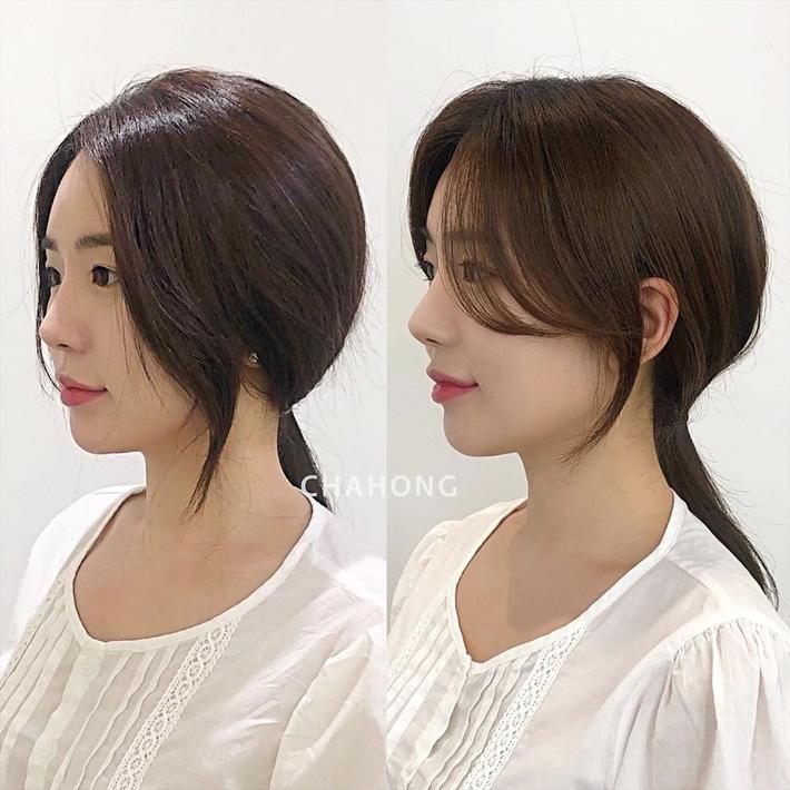 Để kiểu tóc mái cong chữ S thì mặt nào cũng được 'nịnh', 'biến hình' xinh lên trông thấy - 1