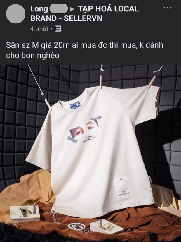 Áo local brand in hình 16 Typh mua 420k - rao bán trên mạng tới 20 triệu, chủ shop phản ứng thế nào? - 1