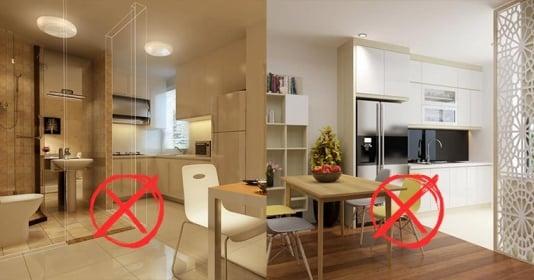 5 tránh trong phong thủy phòng bếp giúp gia chủ không bị rơi vào cảnh khó khăn