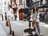Diện quần âu và sơmi cách điệu đẹp như các quý cô châu Á trong street style đầu tháng 3