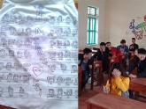Chuyện xúc động phía sau chiếc áo trắng vẽ đủ mặt 50 thành viên trong lớp: Nhớ quá cấp 3 ơi!
