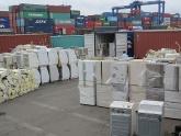 8 container hàng cấm nhập khẩu về Việt Nam khai báo là.... rổ nhựa