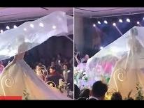 Đám cưới trở thành đám tang vì chiếc khăn voan biết bay