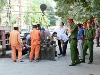Công an khám nghiệm bốt điện nổ khiến 5 người thương vong ở Hà Đông