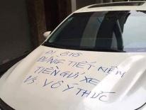 Đỗ ôtô chặn cửa nhà, chủ xe bị nhắc vô ý thức