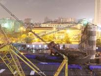Hà Nội: Sập cần cẩu ở công trình xây dựng, công nhân tháo chạy