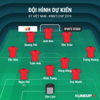 Đội hình dự kiến ĐT Việt Nam tại King's Cup 2019: Cơ hội nào cho Tuấn Anh, Trọng Hoàng? - 1