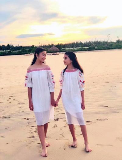 'Công chúa' 14 tuổi nhà Quyền Linh thả dáng với bikini, ai cũng tấm tắc khen dáng vóc như Hoa hậu tương lai - 2