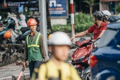 Ảnh, clip: Rào chắn nửa đường Kim Mã để thi công metro Nhổn - ga Hà Nội, giao thông hỗn loạn - 5