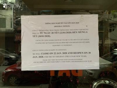 Lịch nghỉ Tết của những hàng ăn nổi tiếng ở Hà Nội: Phở Bát Đàn đóng cửa đến tận ngày Rằm, cháo sườn sụn Lý Quốc Sư mở xuyên Tết - 8