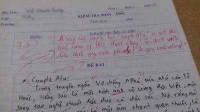 Dân mạng sốt xình xịch với màn 'phản dame' cực bá đạo từ cô giáo Ngữ văn khi học trò nghịch ngợm ghi cả tiếng Anh vào bài kiểm tra