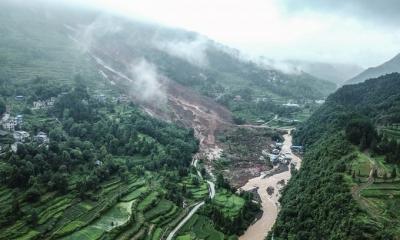 Lở đất ở Trung Quốc, 14 người chết và mất tích