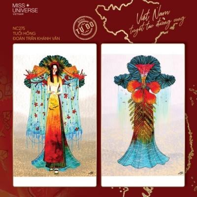 Cuộc thi thiết kế trang phục dân tộc cho Khánh Vân tại MU 2020: Tác phẩm 'Kén em' được vote như vũ bão với hơn 10 ngàn like - 5