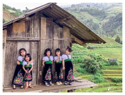 Bộ ảnh 'nhà có 5 nàng tiên' chụp ở Mù Cang Chải đẹp như tranh khiến người lớn cũng phải mê mẩn - 2
