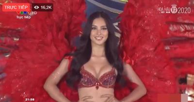 Sau khi bị soi body lộ cả loạt khuyết điểm, Tiểu Vy diện bikini khoe dáng trong đêm thi Hoa hậu Việt Nam 2020, khuôn ngực 'đồ sộ' gây chú ý - 4