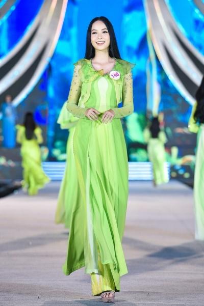 Top 35 Hoa hậu Việt Nam 2020 thướt tha trình diễn áo dài - 15
