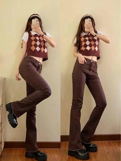 """Kiểu quần jeans hack dáng cực đỉnh, vừa dài chân vừa tôn vòng 3 """"đỉnh của chóp"""" đó các chị em - 1"""