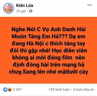 Bị vợ nghệ sĩ Xuân Bắc 'đòi táng nếu gặp', Trang Trần gay gắt mỉa mai nhan sắc và thách táng tay đôi - 2