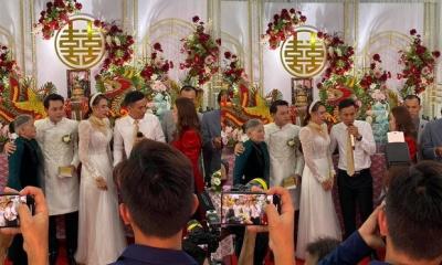 Đám cưới Hồ Bích Trâm ở Quảng Ngãi: Hé lộ chân dung chú rể, đeo vàng nặng cả cổ, lên tiếng chuyện đãi tiệc giữa mùa dịch - 2