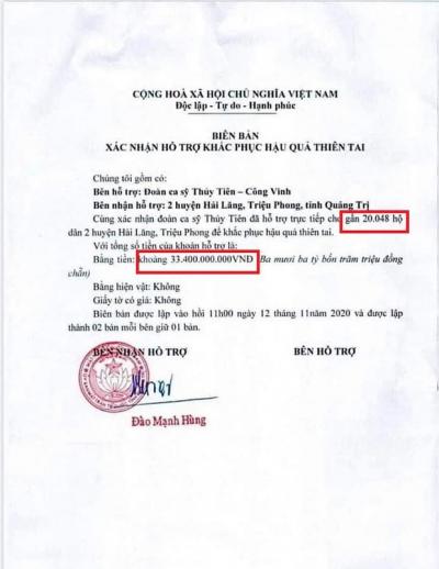 Chính quyền địa phương lên tiếng về những 'điểm bất thường' trong loạt giấy tờ của vợ chồng Thuỷ Tiên, Công Vinh - 1